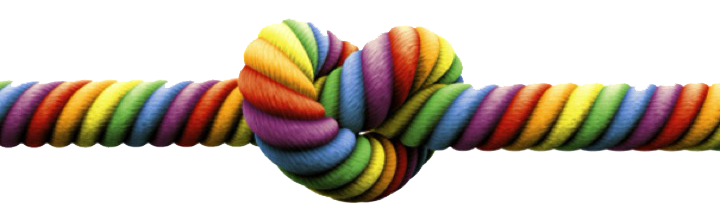 Multi-colored knotted string