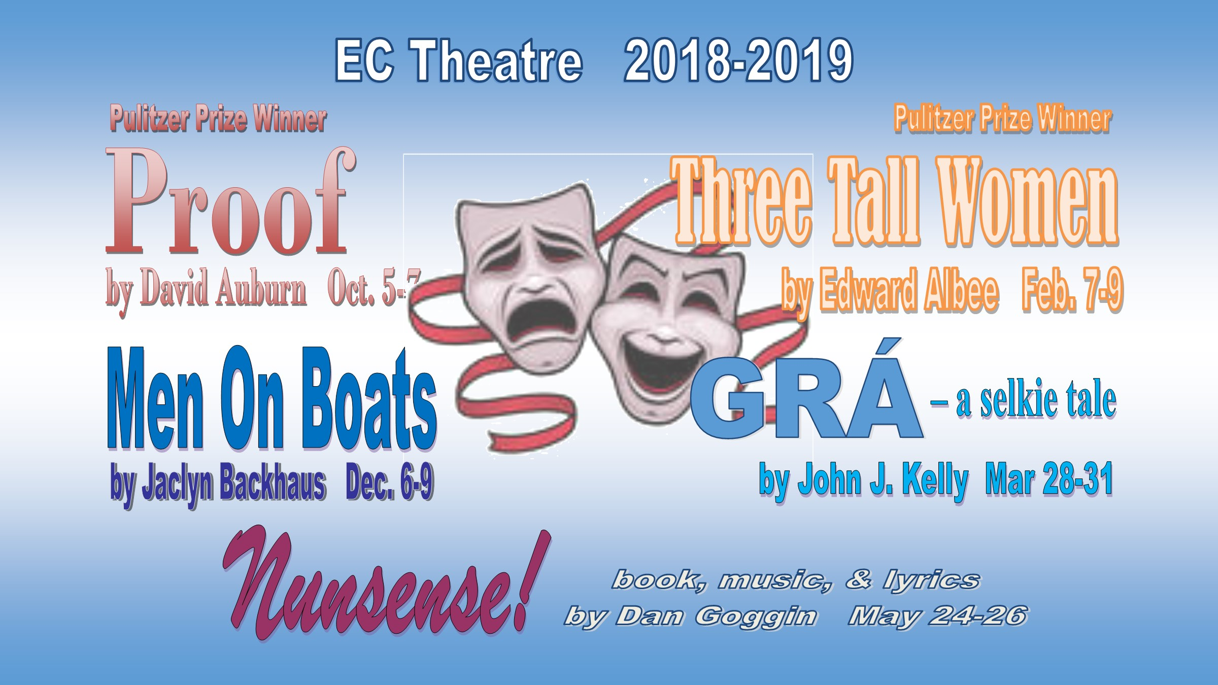 Image of 2018-2019 Theatre Season Show Schedule