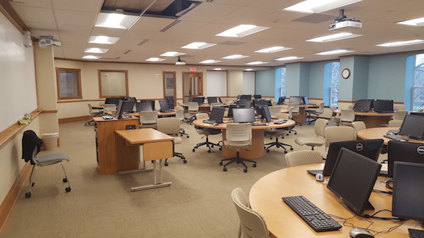 Computer lab within Cowles Hall