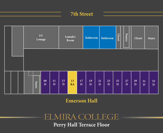 Perry Hall Terrace Level Floor Plan