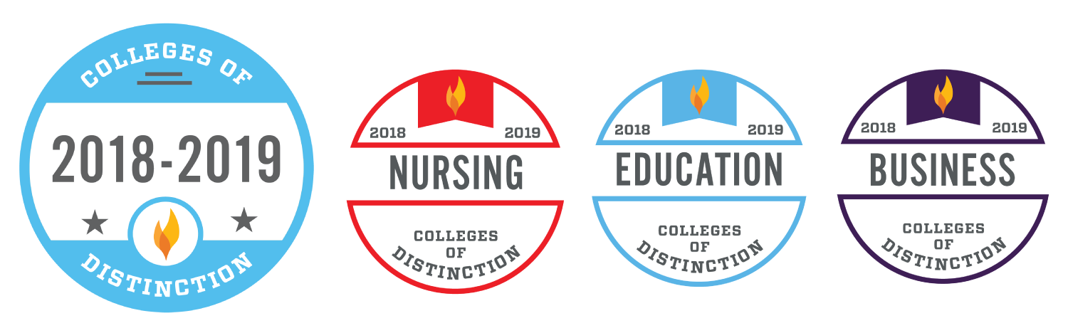 2018-2019 College of Distinction accolades: Nursing, Education, and Business