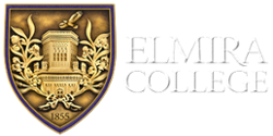 Elmira College Logo - Seal on left and College name on the right